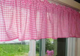 Pink Gingham Curtains Pink Fuchsia Gingham Kitchen Caf礬 Curtain Unlined Or With