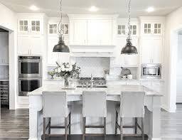 Modern Farmhouse Kitchens White U0026 Pale Grey Contemporary Farmhouse Style Kitchen House