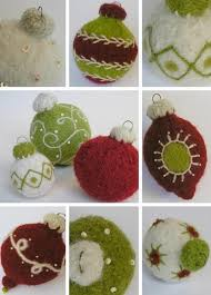 hand knitted christmas decorations