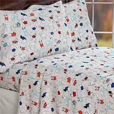 Dog Duvet Covers Portuguese Flannel Dog Sheets Dapper Dog Flannel Sheet Set