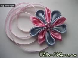 149 best kanzashi images on fabric flowers ribbon