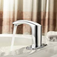 centerset chrome brass widespread waterfall two handles touchless