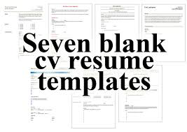 free download cv 7 free blank cv resume templates for download u2013 free cv template