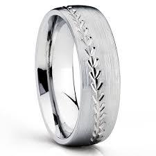 baseball wedding ring titanium wedding bands titanium wedding rings black titanium