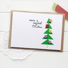 bulk christmas cards 4 christmas cards geometric christmas tree buttons one of a