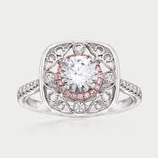 18 carat diamond ring simon g 24 carat total weight pink and white diamond ring