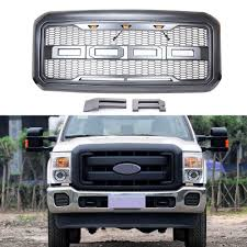 Ford F350 Truck Grills - front grille grill matte black replacement chrome trim molding for