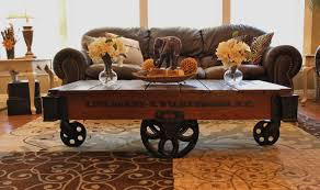 Living Room Ideas Industrial Coffee Table Surprising Cart Coffee Table Designs Charming Brown