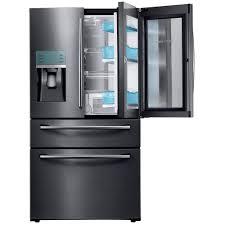 Frigo Samsung But by Samsung 22 6 Cu Ft 4 Door French Door Refrigerator With Polygon