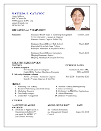 Samples Of A Resume by Sample Of Resumes 1 Uxhandy Com