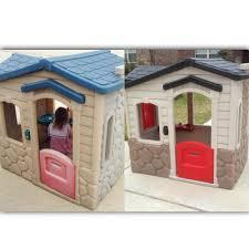 little tikes playhouse makeover using valspar plastic paint i