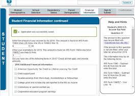 fafsa tutorial step 2 student financial information edvisors