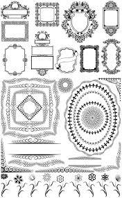 classic frames and ornamental borders vector vector graphics