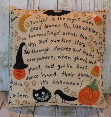 primitive home decor primitive halloween pillow home decor folk