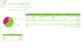 Check Register Template Excel Free Check Register Template My Excel Templates