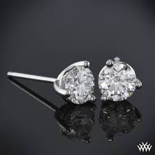 real earrings 3 prong martini diamond earrings setting only 304