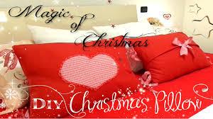 diy christmas heart pillow diy pillow diy cuscino natale