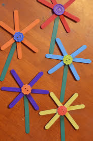 easy flower craft stick craft for kids surviving a teacher u0027s salary