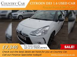peugeot used car finance 7 340 citroen ds3 1 6 used car finance from 129 47 p m call our