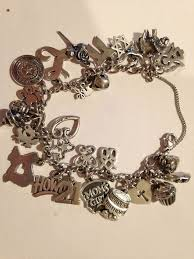 fine charm bracelet images 523 best vintage sterling puffy heart charm bracelets images on jpg