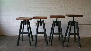 furniture set 4 metal frame height adjustable industrial