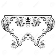 exquisite rich rococo table luxury rich carved ornaments