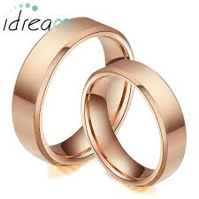 wedding bands for couples gold plated tungsten wedding bands set flat beveled edge