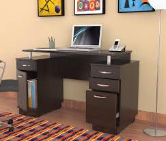 dark brown computer desk dark brown varnished walnut wood computer desk with small storage