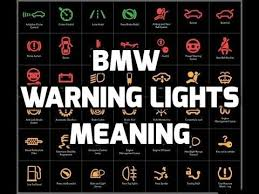 bmw car signs bmw warning lights meaning