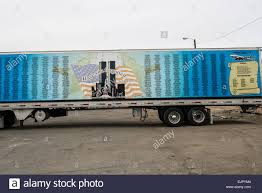 semi trailer truck the rolling memorial semi trailer truck intended to honor the