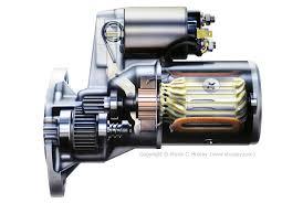 honda car starter car engine starter motor illustrations cut thrugh
