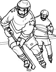 playing hockey coloring pages sport coloring pages of