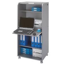 bureau armoire informatique armoire informatique gris alu orga 2 tiroirs achat vente caisson