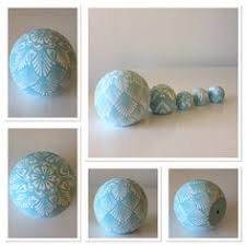 light blue decorative balls unique hand painted and decorated light blue and white wooden