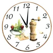 pendule de cuisine moderne pendule moderne cuisine horloge diamatre 395 cm fourchettes et
