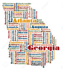 Georgia Map Usa by Word Cloud Map Of Georgia State Usa Royalty Free Cliparts