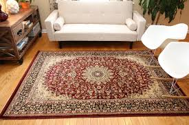 Brown Shag Area Rug by Amazon Com New City Burgundy Traditional Isfahan Wool Persian