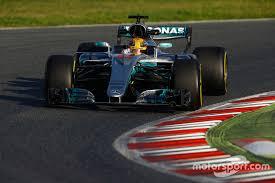 mercedes barcelona lewis hamilton mercedes f1 w08 at barcelona pre season testing i