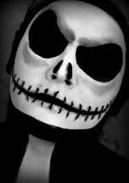 Scary Skeleton Face Painting Halloween by Halloween Series 2013 Jack Skellington Makeup Tutorial Youtube