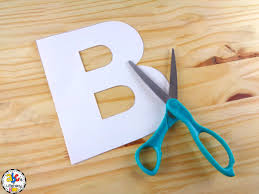 how to make a letter b books craft for letter of the week