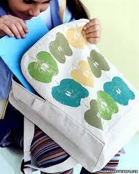 apple print bag martha stewart