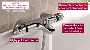 thermostatic bath shower mixer taps at virginbathrooms co uk youtube