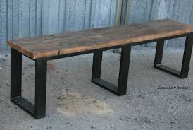 Rustic Modern Wood Furniture Buy A Handmade Vintage Industrial Bench Seat Reclaimed Wood