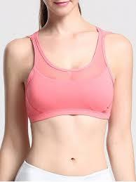light pink sports bra mesh inset gym bra light pink sports bras s zaful