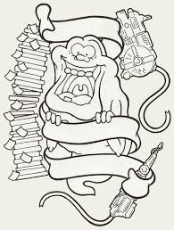 ghostbusters clipart black and white pencil and in color