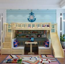 Boy Bunk Bed Modern Children Bed Living Room Bunk Bed Solid Wood Bunk Bed