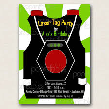 laser tag vest party invitation boy green and white diy