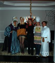 halloween party costumes and cocktails