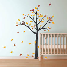 lovely tree wall decal sticker for nursery baby animal full size baby nursery pretty tree wall decal for decor brown orange
