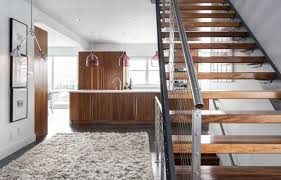 help transforming my carpeted floating stairs to a modern wood look